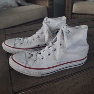Converse High Tops Youth Size 3 White